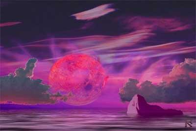 Planeta Eris/Nibiru - wizja artysty